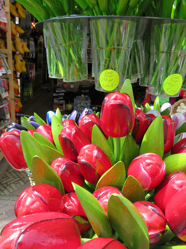 Wooden Tulips for Sale in Amsterdam, Holland