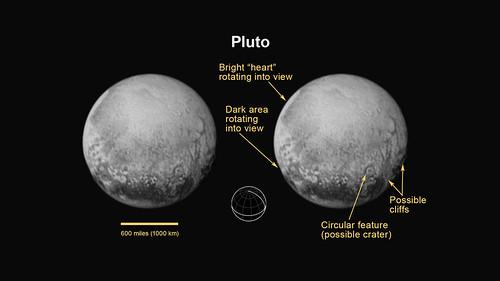 VCSE - Mai kép - Pluto a Charon felől nézve