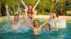 Kids pool jump