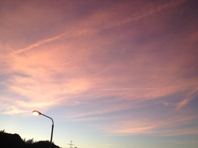 台風近い時は夕焼けが綺麗