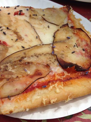 Lavender & eggplant pizza