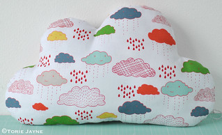 Cloud shaped cushion