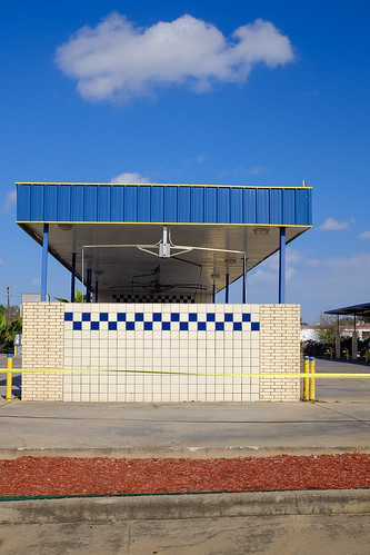 blue brick carwash cloud houston landscapeurban sky texas x100 checkerboard outdoors outside