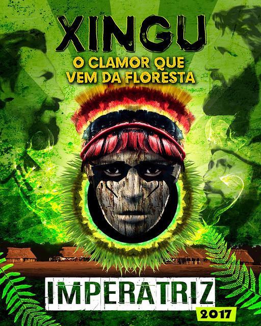 """Enredo """"Xingu, o clamor que vem da Floresta"""", da Escola de Samba Imperatriz Leopoldinense, fala sobre luta pela terra - Créditos: Divulgação"""