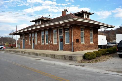 railroad depot station kentucky moreheadkentucky chesapeakeohiorailway rowancounty craftsmanstyle repurposedbuilding prairiestyle