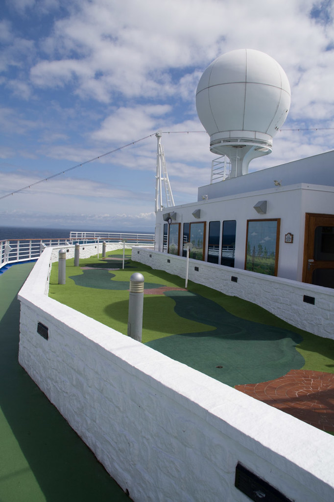 Miniature golf course on Ruby Princess