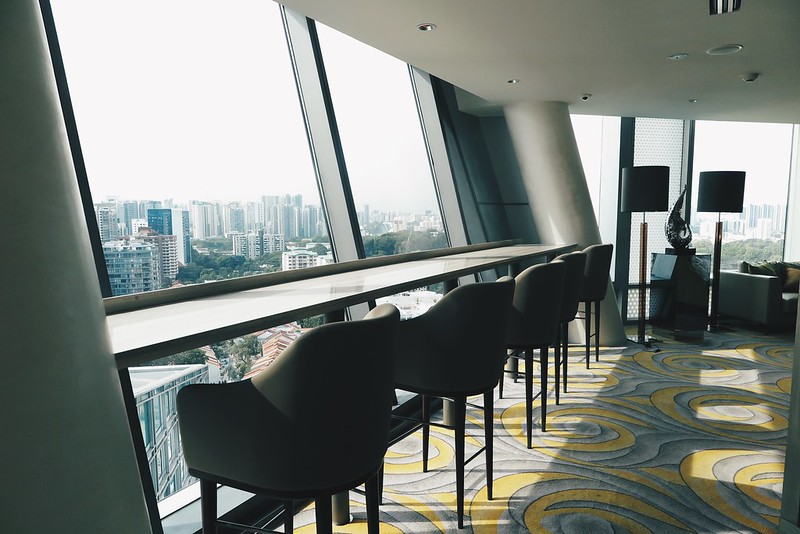 Very spacious Club Lounge with awesome view and facilities at Hotel Jen OrchardGateway