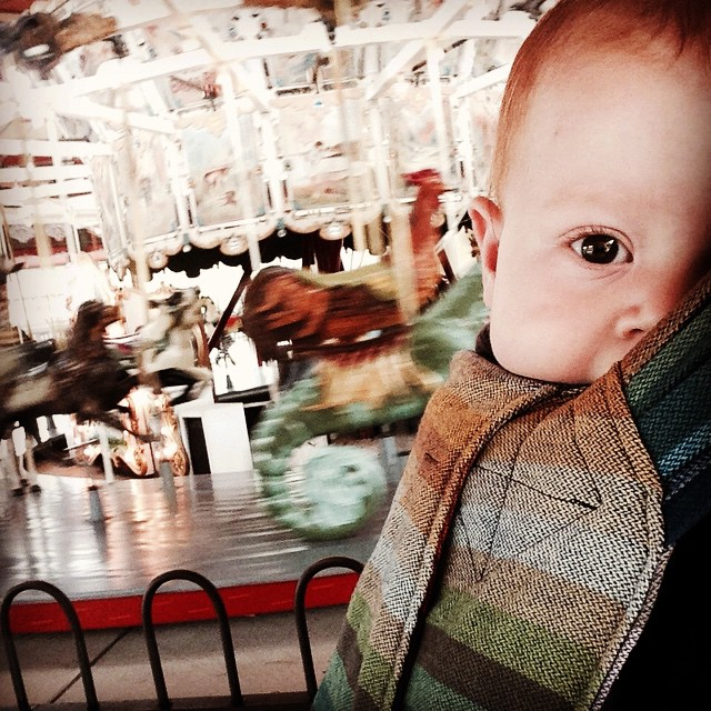 Waiting for the carousel. #greenfieldvillage