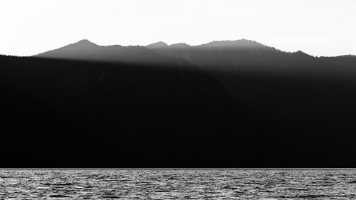 sunset blackandwhite mountains nature water monochrome contrast landscape pacificnorthwest minimalism washingtonstate cleelumlake canon135mmf2lusm canoneos5dmarkiii johnwestrock