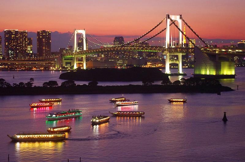 Sunset in Odaiba, Tokyo お台場