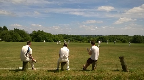 Spot the ball! Downley Common cricket match