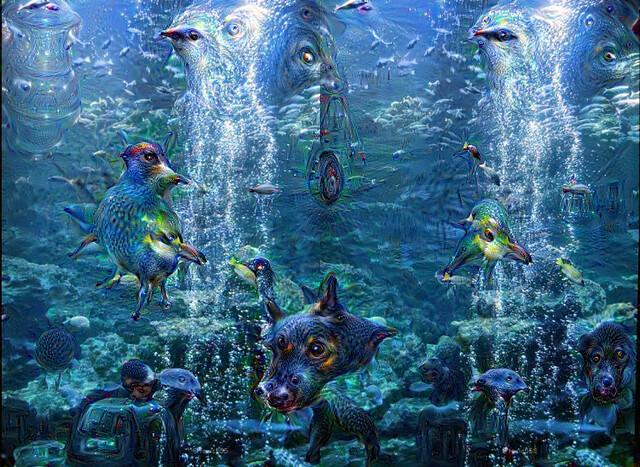 DeepDream3D kyoto-aquarium 3D