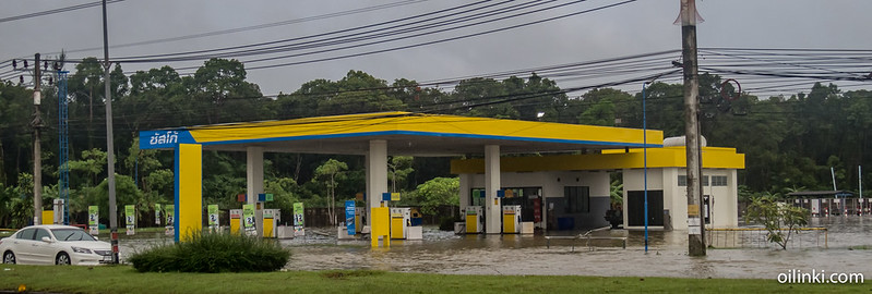 Susco gasoline station inundated
