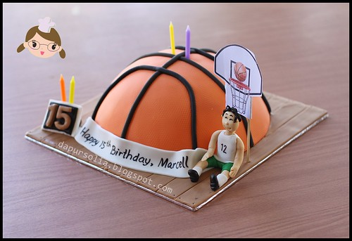 Basket Ball Cake for Marcell 15th Birthday