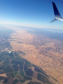 Frontière entre récolte et désert...