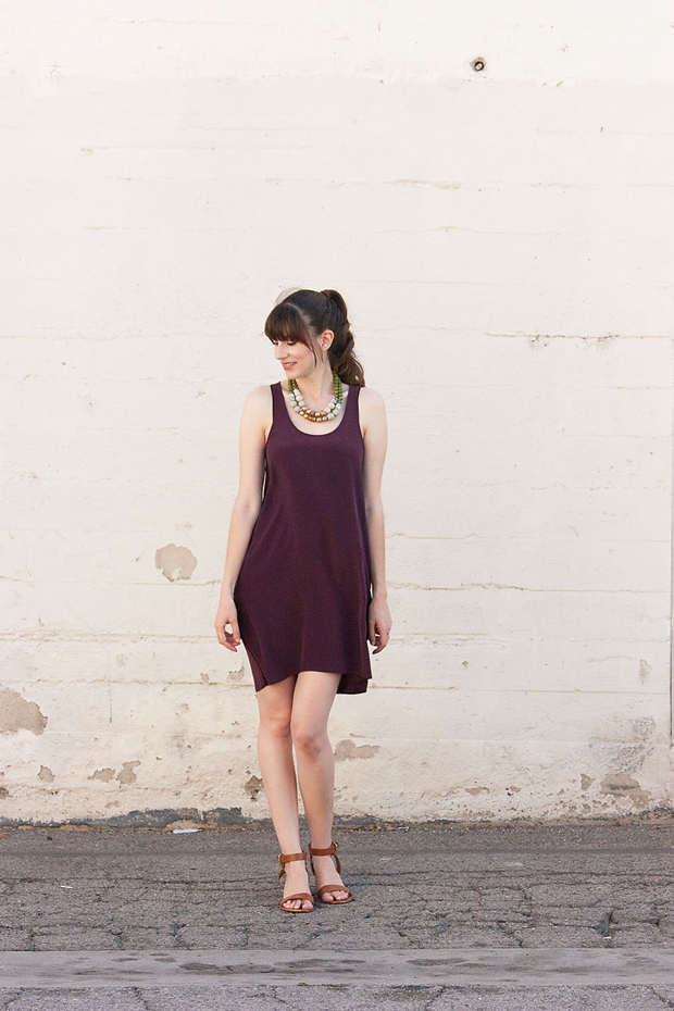 Everlane Silk Dress, History and Industry Necklace