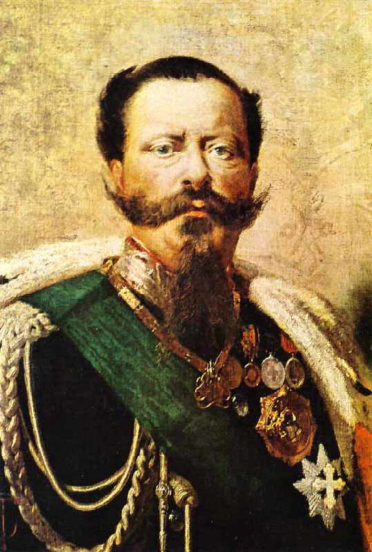 Portrait of Victor Emmanuel II of Italy, by Tranquillo Cremona