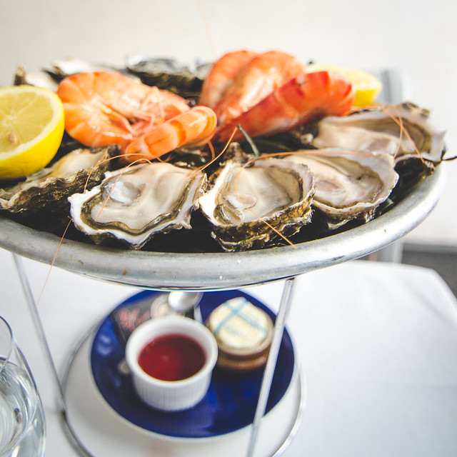 The oysters at Huitrerie Régis are delivered fresh from the famous oyster fields of Marennes-Oléron