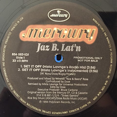 JAZ B. LAT'N:SET IT OFF(LABEL SIDE-A)