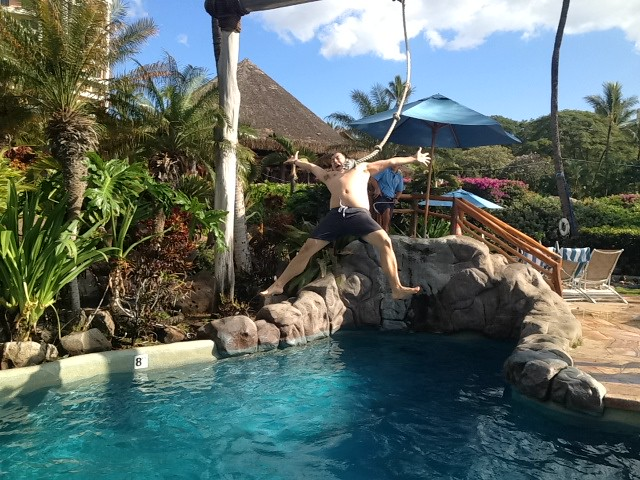 Rope Swing at Grand Wailea by Waldorf Astoria