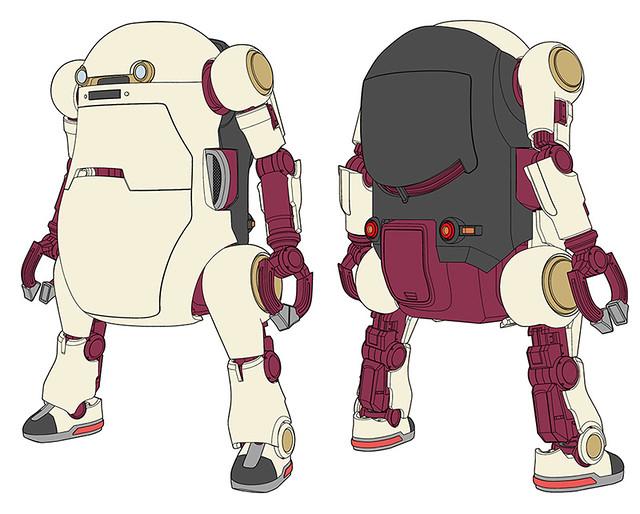 """長谷川『20 機電一體 機動機器人』  """"復古""""主題 1/20比例組裝模型"""