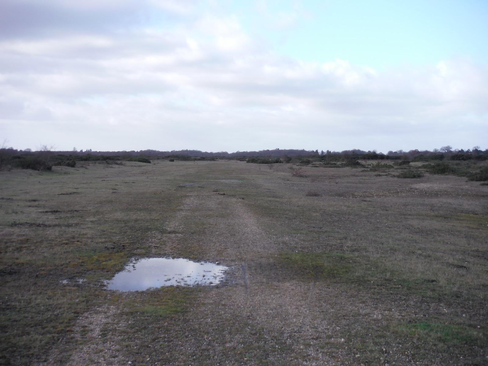 Greenham Common. Ex-Runway SWC Walk 34 Newbury Racecourse to Woolhampton (Midgham Station)