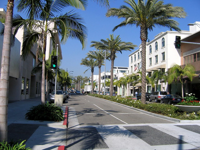 The view up Rodeo Drive