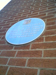Photo of Alport Lodge and James Stanley blue plaque
