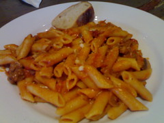 poutine(0.0), bucatini(0.0), steak frites(0.0), cheese fries(0.0), french fries(0.0), pici(0.0), tteokbokki(0.0), italian food(1.0), vegetarian food(1.0), pasta(1.0), penne(1.0), penne alla vodka(1.0), food(1.0), dish(1.0), cuisine(1.0),