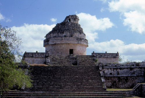 Jim G's photo of the observatory at Chichén Itzá.