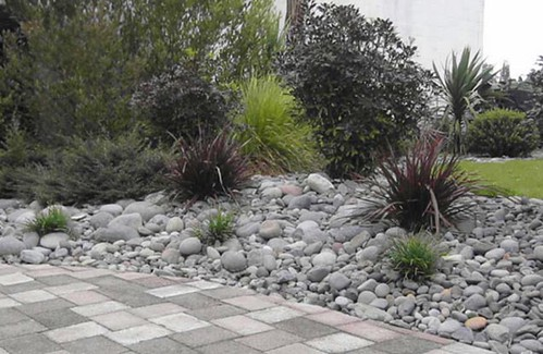 Landscape design auckland new zealand residential design for River rock landscaping