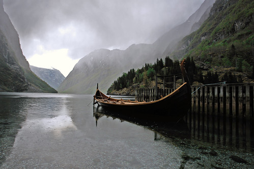Nærøyfjord and a viking ship