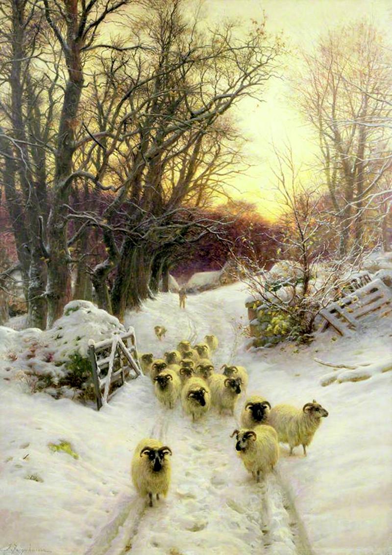 The Sun Had Closed the Winter's Day by Joseph Farquharson, 1904