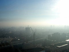 Mist over south London