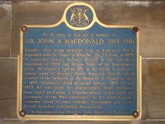 Photo of John A. Macdonald blue plaque