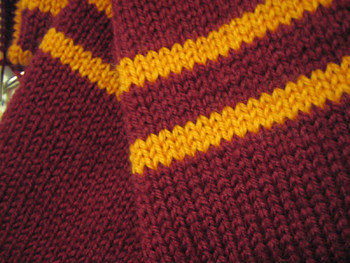 Knitting Pattern For Gryffindor Scarf : Knit project #2: Gryffindor Scarf Flickr - Photo Sharing!