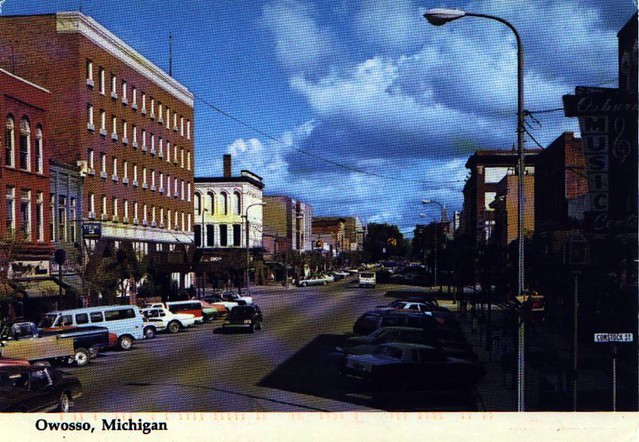 Owosso Michigan A Friend Sent This Card When Working On