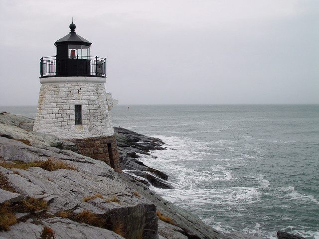 Castle Hill Light in Newport, Rhode Island