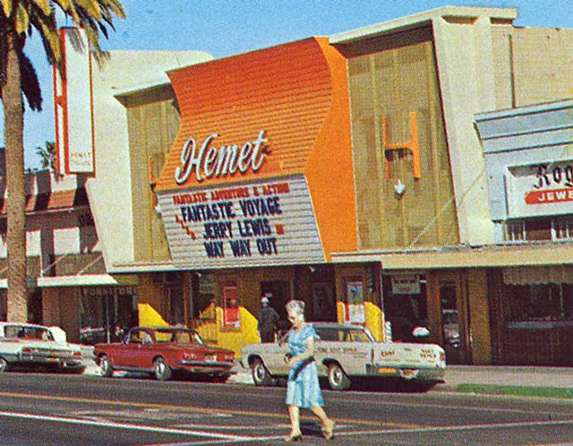 Hemet Movie Theater Postcard (close-up)