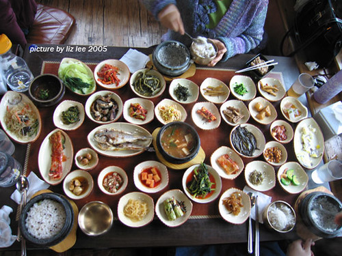Korean dinner table flickr photo sharing - How to build a korean bbq table ...