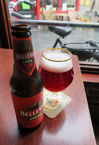 Belle-Vue Kreik Beer in the Dutch Maritiem Pub in Rotterdam, Holland