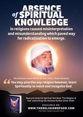This poster explains an important point we can't stress enough about the increase in radicalised elements today. Click here to learn more about the sacred book, The Religion of God (Divine Love) and where you can get it: http://thereligionofgod.com/