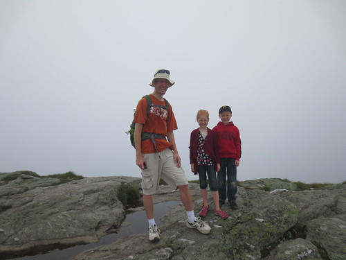 Hannah, Jonathan and I at the summit of Mount Mansfield