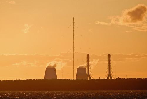 sunset stpetersburg russia powerplant