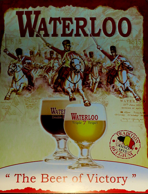 Beer Advert - Bar - Bruges (Canon PowerShot G3X)