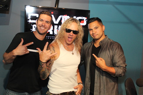 Steel Panther's Michael Starr with Covino & Rich