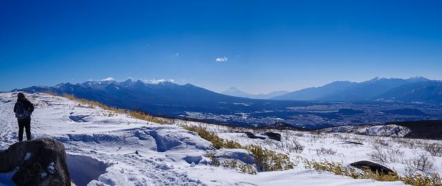 八ヶ岳・富士・南アルプスを展望