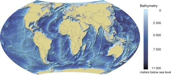 World ocean bathymetric map grid arendal world ocean bathymetric map gumiabroncs Gallery