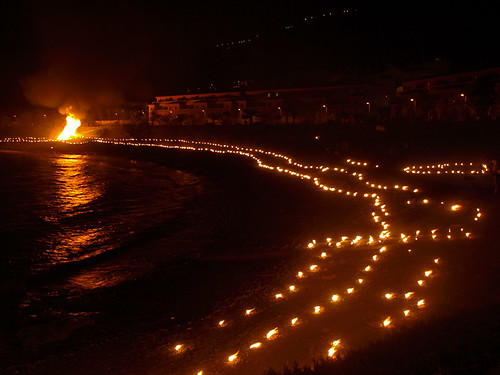 Fires on the beach, Noche de San Juan, La Caleta, Garachico, Tenerife
