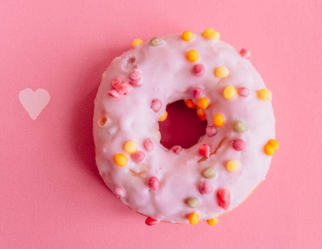 pink tutti frutti doughnut